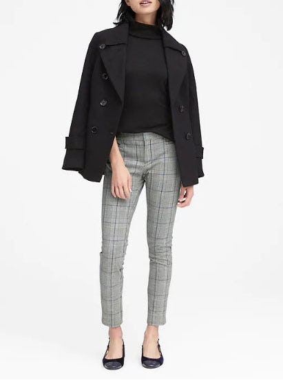 Sloan Skinny-Fit Plaid Ankle Pant