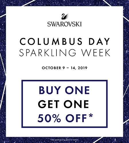 BUY ONE, GET ONE 50% OFF from Swarovski