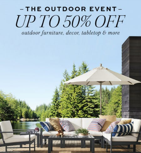 Up to 50% Off The Outdoor Event from Pottery Barn