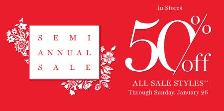 50% Off Semi Annual Sale from Vera Bradley