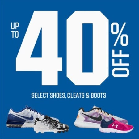 Up to 40% Off Select Shoes, Cleats & Boots from Dick's Sporting Goods
