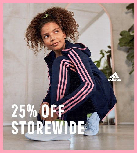 /// 25% off storewide from Adidas