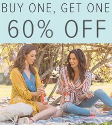 BOGO 60% Off from francesca's