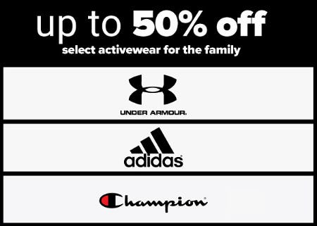 Up to 50% Off Select Activewear for the Family from Belk