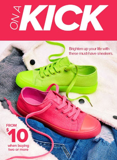 Sneakers from $10 When Buying Two or More from Rainbow