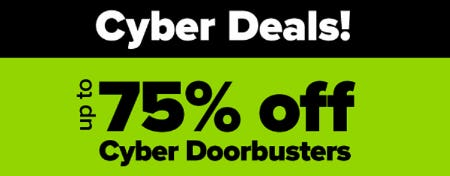 Up to 75% Off Cyber Doorbusters