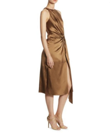 Halston Heritage Draped Dress