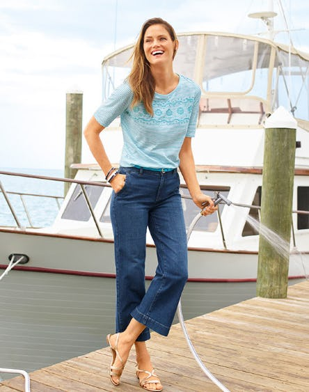 The Denim Wide-Leg Crop from Talbots