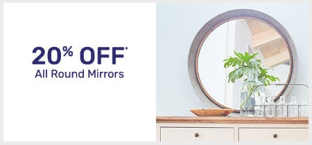 20% Off All Round Mirrors from Pier 1 Imports