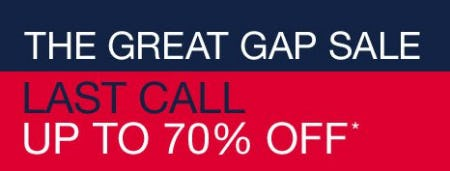 The Great Gap Sale up to 70% Off from Gap