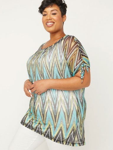 Gorgeous Geometric Tops from Catherines Plus Sizes