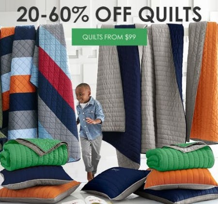 20–60% Off Quilts from Pottery Barn Kids