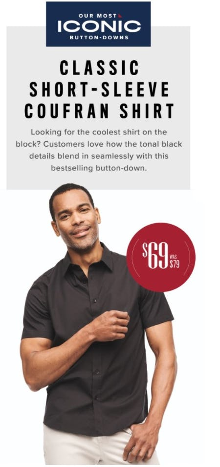 $69 Classic Short-Sleeve Coufran Shirt from UNTUCKit