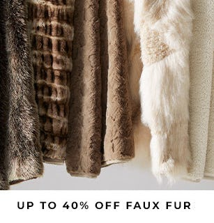 Up to 40% Off Faux Fur from Pottery Barn