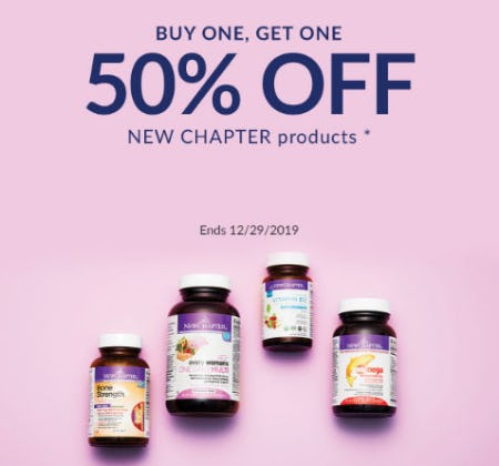 BOGO 50% Off New Chapter Products from The Vitamin Shoppe