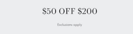 $50 Off with $200 Purchase from Neiman Marcus