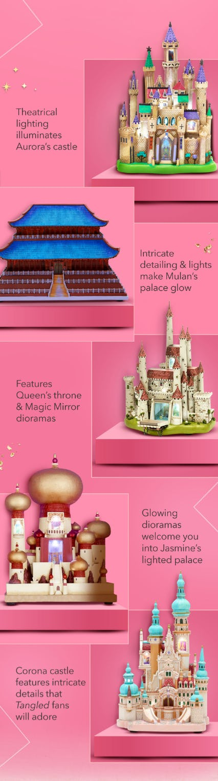 Collectors Castles from Disney Store