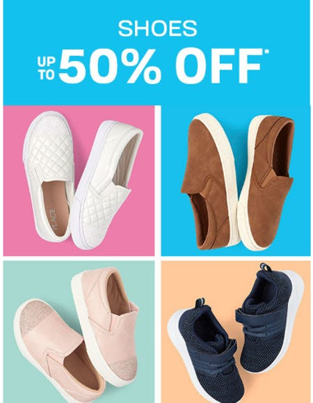 Shoes up to 50% Off from The Children's Place Gymboree