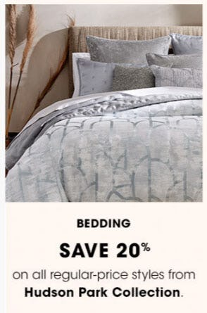 Save 20% on Bedding from Bloomingdale's