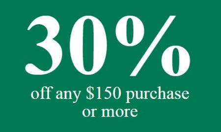 30% Off Any $150 Purchase or More from ALDO Shoes