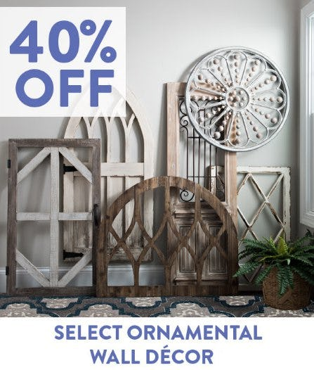 40% Off Select Ornamental Wall Décor from Kirkland's