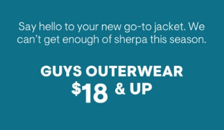 Guys Outerwear $18 & Up