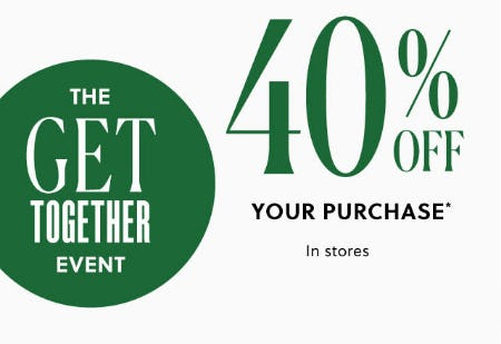 40% Off Your Purchase from J.Crew