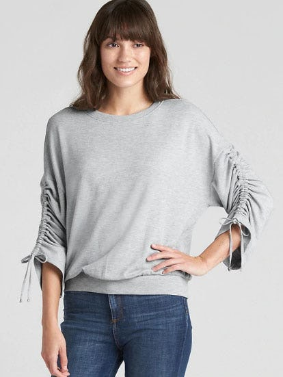 Pullover Cinched Sleeve Sweatshirt from Gap