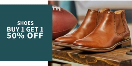 Shoes Buy 1, Get 1 50% Off