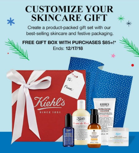 Free Gift Box with $85 or More Purchase from Kiehl's