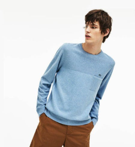 Men's Cotton and Linen Knit Sweater from Lacoste