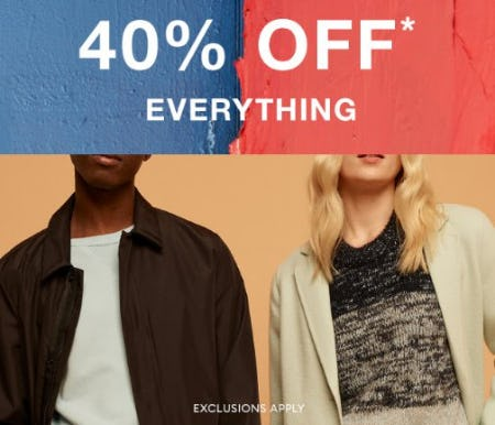 40% Off Everything from Banana Republic
