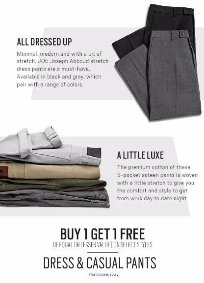 Buy 1, Get 1 Free Dress & Casual Pants