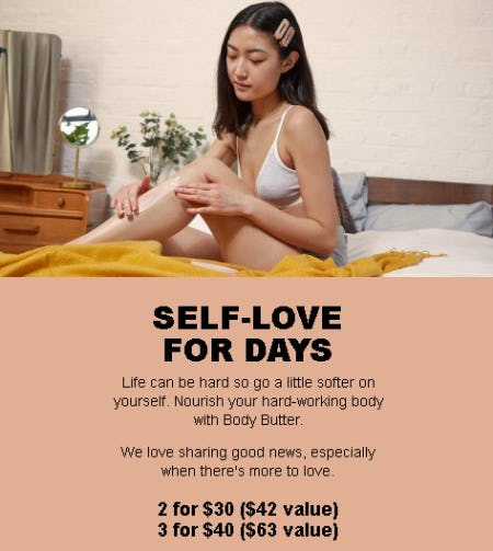 2 for $30 or 3 for $40 Body Butters
