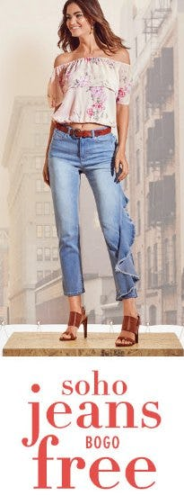 Soho Jeans BOGO Free from New York & Company