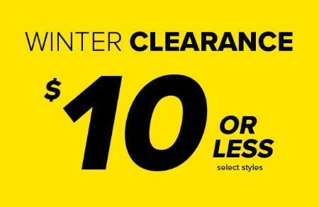 Winter Clearance $10 or Less