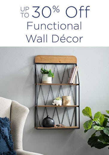 Up to 30% Off Functional Wall Decor from Kirkland's