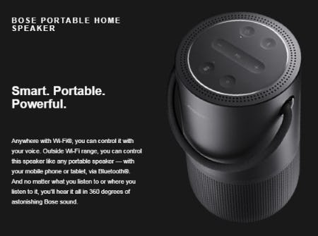 Our New Bose Portable Home Speaker from Bose
