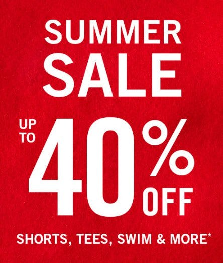 Summer Sale up to 40% Off from abercrombie