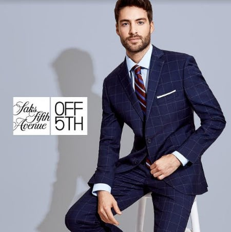 Men's Wardrobe Event - Shop Up To 70% OFF* at Saks OFF 5TH!