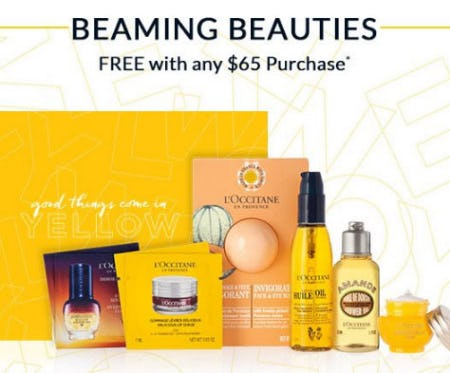Free Gift With Any $65 Purchase from L'Occitane