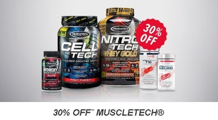 30% Off MUSCLETECH from GNC