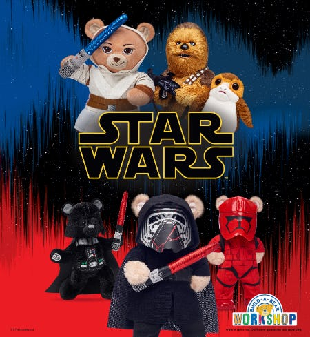 Go on Epic Adventures with NEW Star Wars™ Arrivals at Build-A-Bear Workshop!®