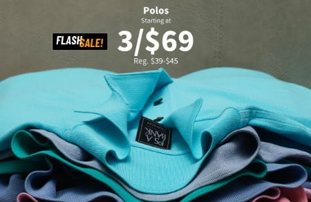 Polos Starting at 3 for $69 from Jos. A. Bank