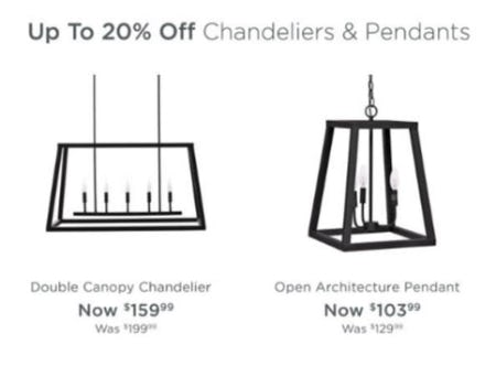Up to 20% Off Chandeliers & Pendants from Kirkland's