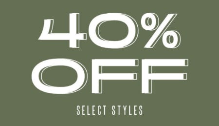 40% Off on Select Styles from Ashley Stewart