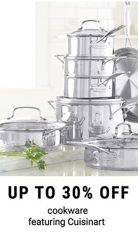 Up to 30% Off Cookware
