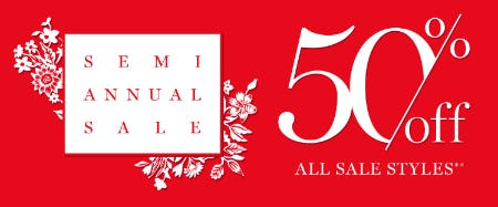 Semi-Annual Sale: 50% Off All Sale Styles from Vera Bradley