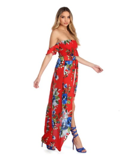 Hot Like Summer Floral Dress