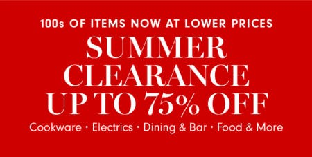 Up to 75% Off Summer Clearance